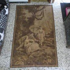 Antigüedades: ANTIGUO GRAN TAPIZ ESPAÑOL ESCENA DE ÉPOCA PRINCIPIOS S XX MED 201 X 125 CM. Lote 237690855