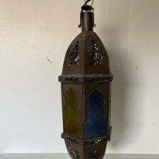 Antigüedades: FAROLA ARABE DE EXTERIOR. Lote 237697795