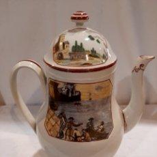 Antigüedades: ALCORA PIEZA DE MUSEO S. XIX SERIE CALCOMANÍAS COLOREADAS. Lote 237702785