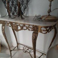 Antigüedades: CONSOLA DE BRONCE Y MARMOL. Lote 237710425