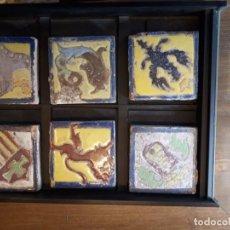 Antiquités: COLECCIÓN TACOS, AZULEJOS MENSAQUE, SEVILLA.. Lote 237722385