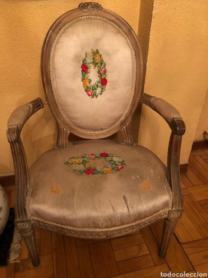 Antigüedades: PAREJA DE BUTACAS IMPERIO. DIMENSIONES: 92X58X55 CM - Foto 2 - 237734935
