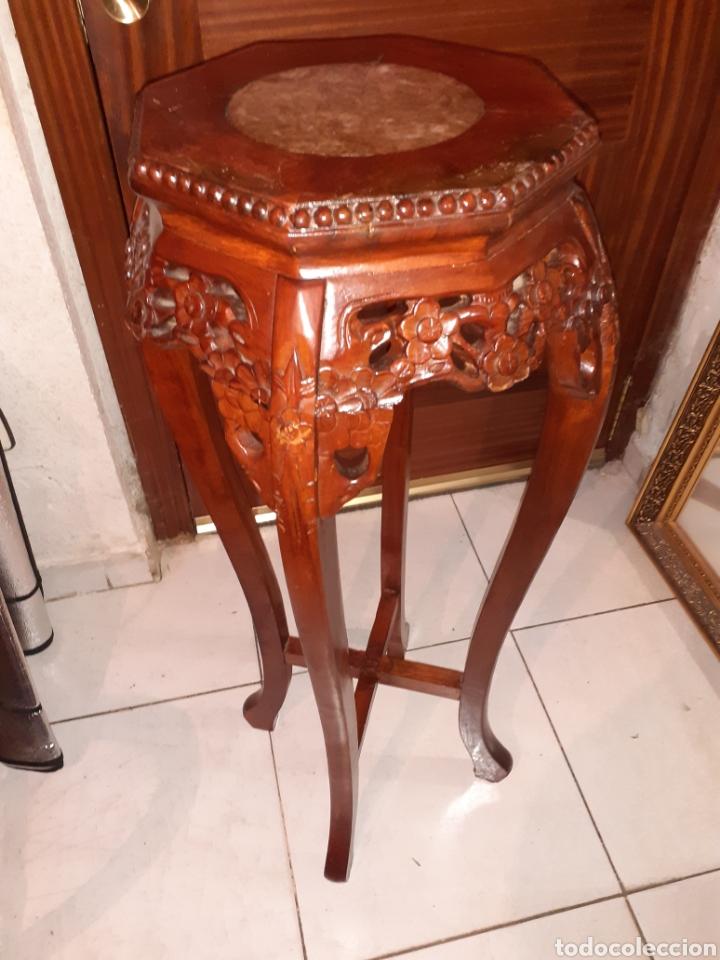 Antigüedades: Macetero chino, 40x40x92 cm. - Foto 2 - 237736260