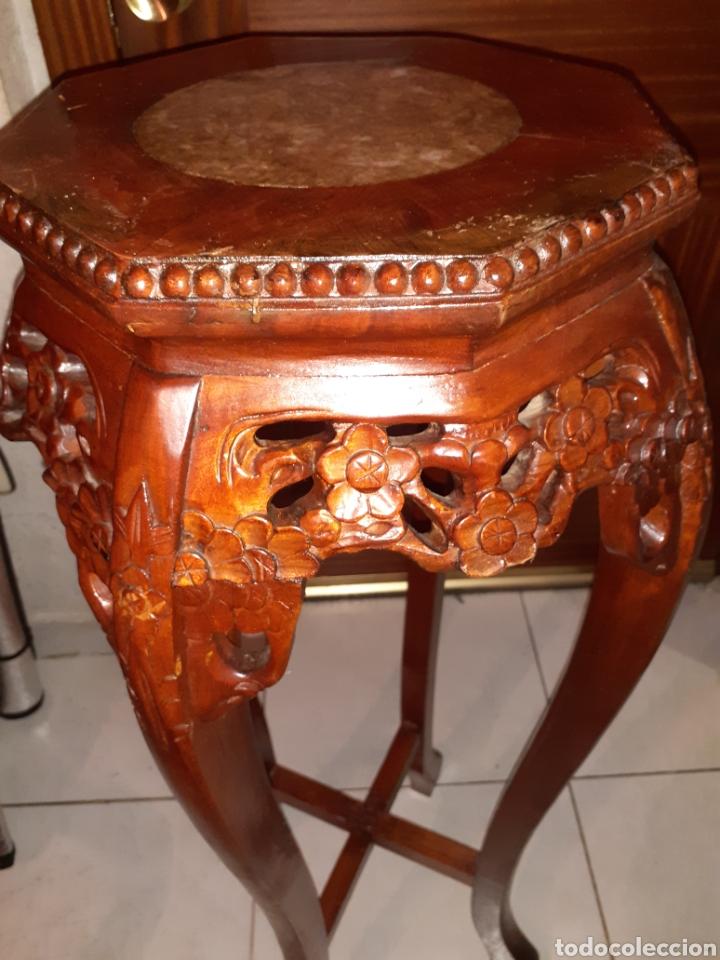 Antigüedades: Macetero chino, 40x40x92 cm. - Foto 4 - 237736260