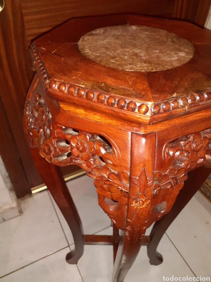 Antigüedades: Macetero chino, 40x40x92 cm. - Foto 5 - 237736260