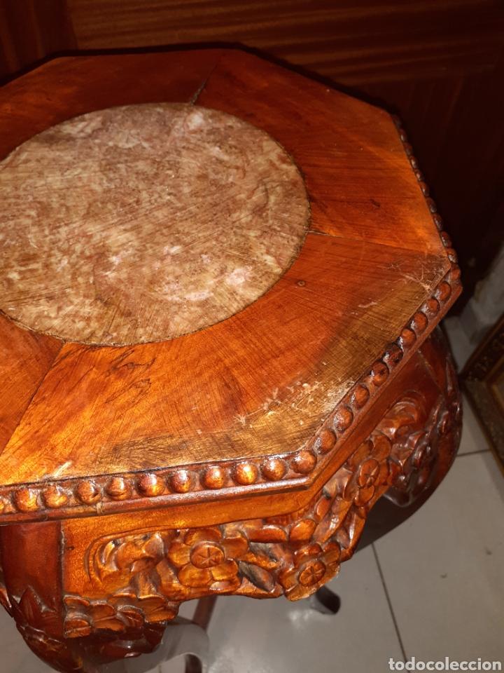 Antigüedades: Macetero chino, 40x40x92 cm. - Foto 10 - 237736260