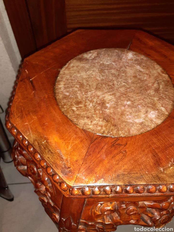 Antigüedades: Macetero chino, 40x40x92 cm. - Foto 11 - 237736260