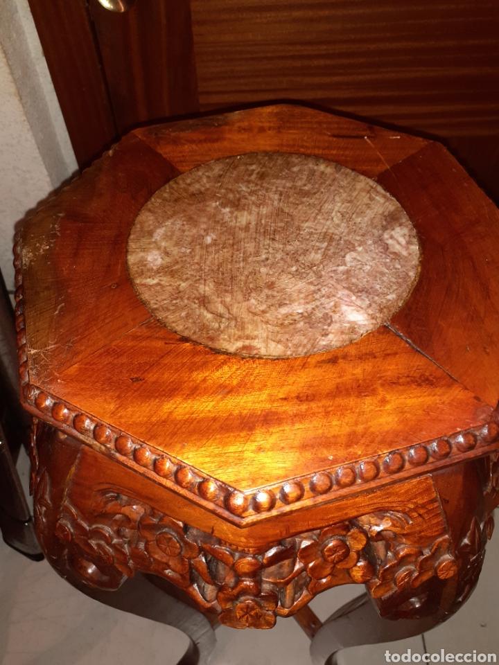 Antigüedades: Macetero chino, 40x40x92 cm. - Foto 12 - 237736260