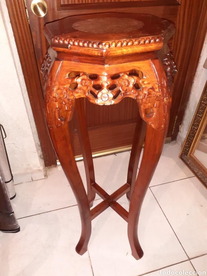MACETERO CHINO, 40X40X92 CM. (Antigüedades - Hogar y Decoración - Maceteros Antiguos)