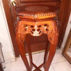 Antigüedades: MACETERO CHINO, 40X40X92 CM.. Lote 237736260
