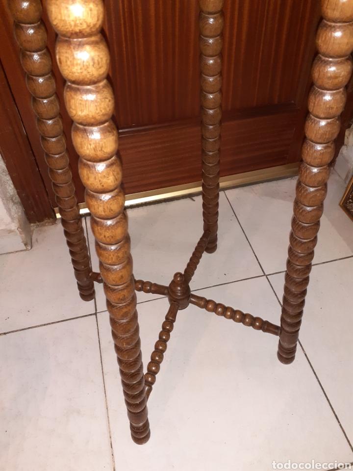 Antigüedades: Macetero de madera 32x32x87 cm .. - Foto 3 - 237737300