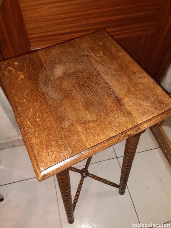 Antigüedades: Macetero de madera 32x32x87 cm .. - Foto 4 - 237737300
