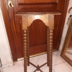 Antigüedades: MACETERO DE MADERA 32X32X87 CM ... Lote 237737300
