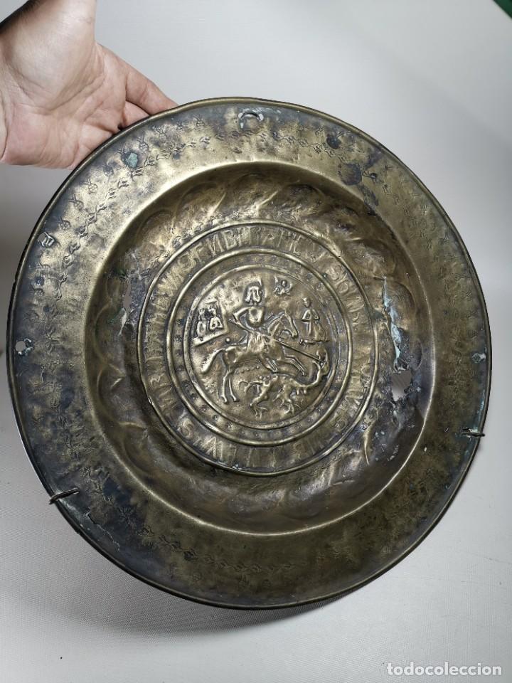 Antigüedades: ORIGINAL PLATO PETITORIO LIMOSNERO NUREMBERG SIGLO XVI--SAN JORGE---SANT JORDI - Foto 8 - 237740995