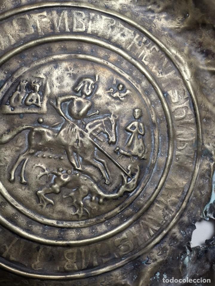 Antigüedades: ORIGINAL PLATO PETITORIO LIMOSNERO NUREMBERG SIGLO XVI--SAN JORGE---SANT JORDI - Foto 9 - 237740995