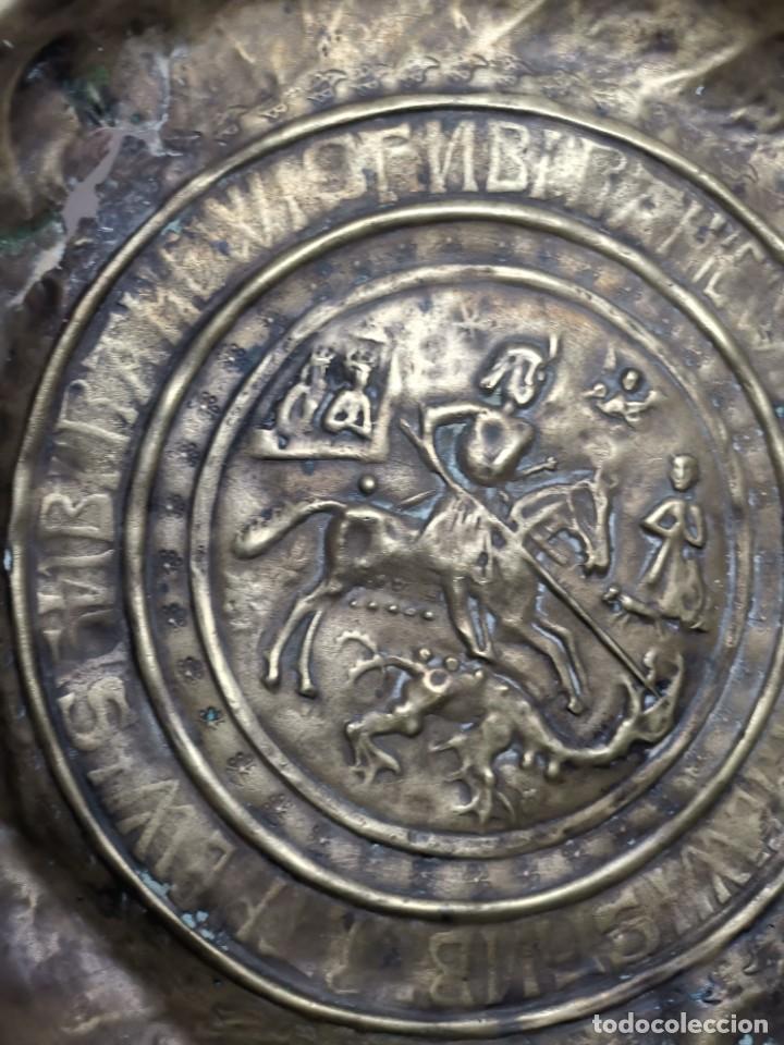 Antigüedades: ORIGINAL PLATO PETITORIO LIMOSNERO NUREMBERG SIGLO XVI--SAN JORGE---SANT JORDI - Foto 10 - 237740995
