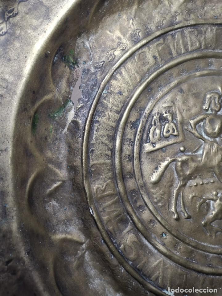 Antigüedades: ORIGINAL PLATO PETITORIO LIMOSNERO NUREMBERG SIGLO XVI--SAN JORGE---SANT JORDI - Foto 11 - 237740995