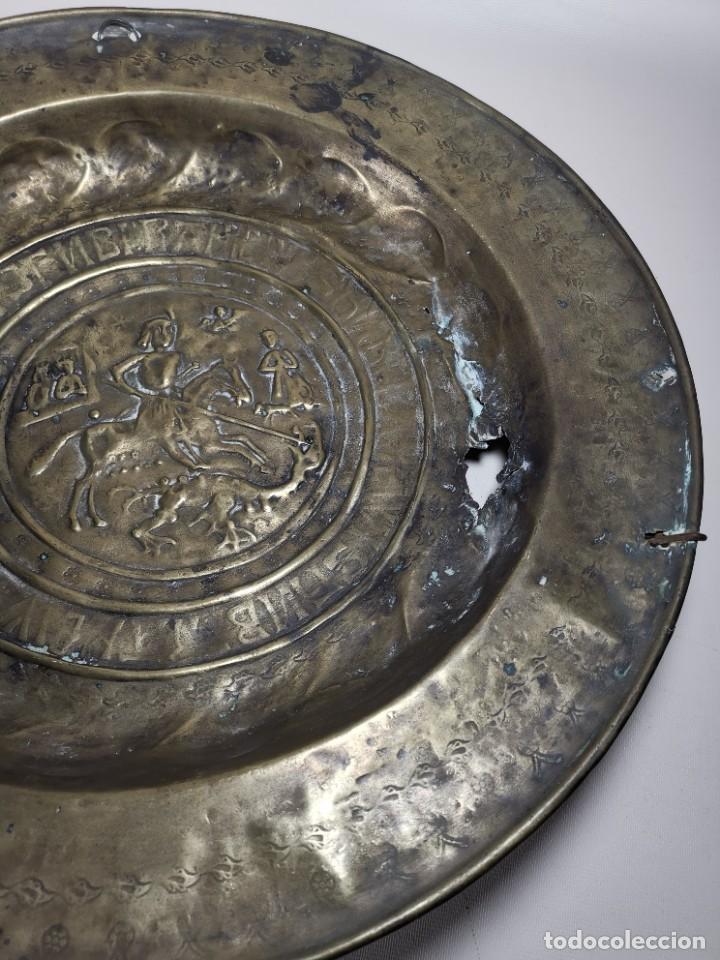 Antigüedades: ORIGINAL PLATO PETITORIO LIMOSNERO NUREMBERG SIGLO XVI--SAN JORGE---SANT JORDI - Foto 12 - 237740995