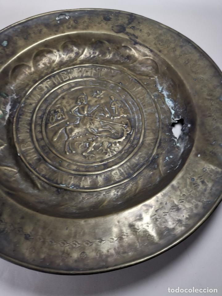 Antigüedades: ORIGINAL PLATO PETITORIO LIMOSNERO NUREMBERG SIGLO XVI--SAN JORGE---SANT JORDI - Foto 13 - 237740995