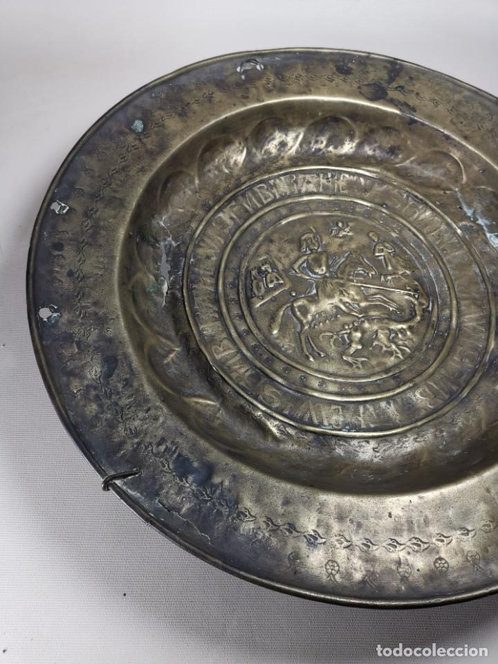 Antigüedades: ORIGINAL PLATO PETITORIO LIMOSNERO NUREMBERG SIGLO XVI--SAN JORGE---SANT JORDI - Foto 14 - 237740995
