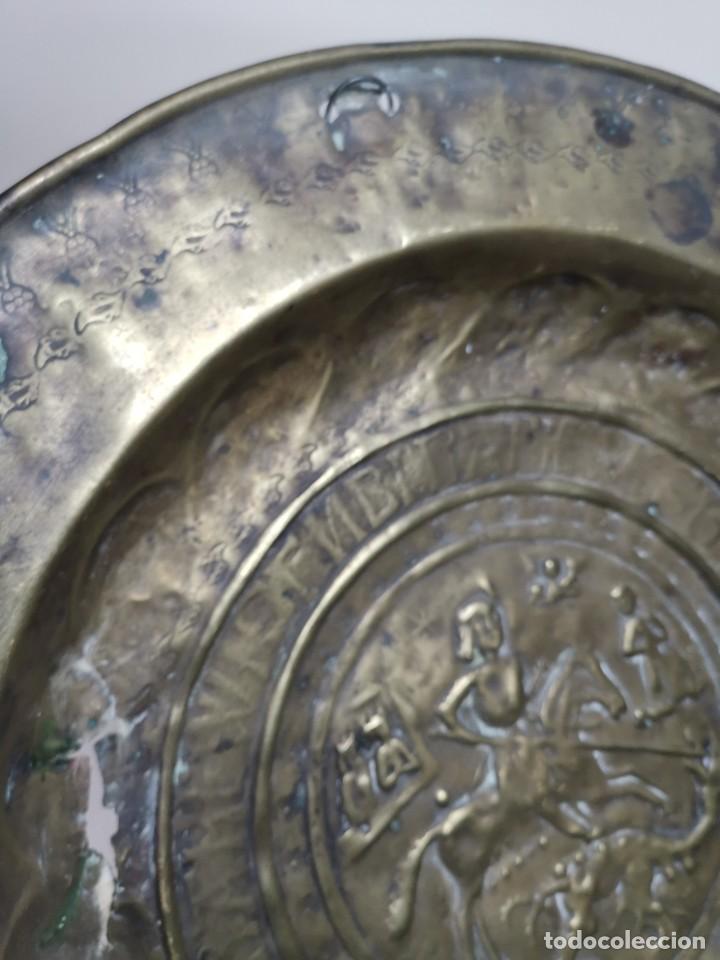 Antigüedades: ORIGINAL PLATO PETITORIO LIMOSNERO NUREMBERG SIGLO XVI--SAN JORGE---SANT JORDI - Foto 16 - 237740995