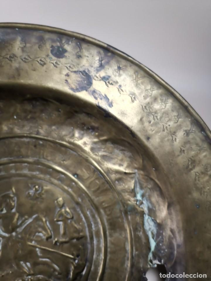 Antigüedades: ORIGINAL PLATO PETITORIO LIMOSNERO NUREMBERG SIGLO XVI--SAN JORGE---SANT JORDI - Foto 23 - 237740995