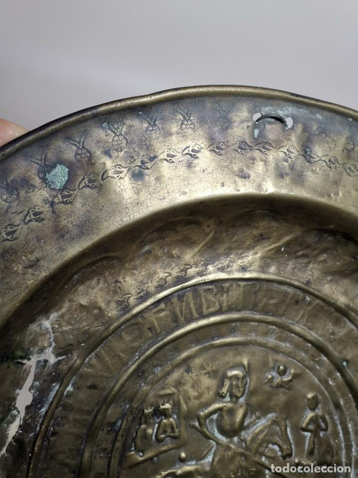 Antigüedades: ORIGINAL PLATO PETITORIO LIMOSNERO NUREMBERG SIGLO XVI--SAN JORGE---SANT JORDI - Foto 24 - 237740995