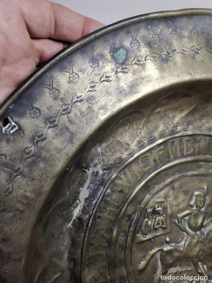 Antigüedades: ORIGINAL PLATO PETITORIO LIMOSNERO NUREMBERG SIGLO XVI--SAN JORGE---SANT JORDI - Foto 25 - 237740995