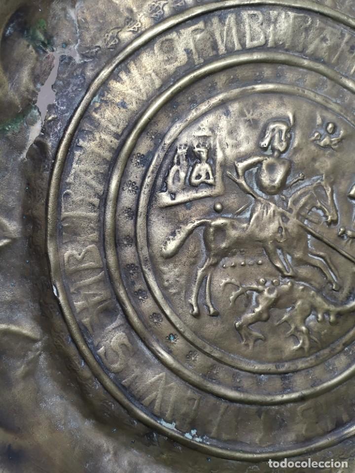 Antigüedades: ORIGINAL PLATO PETITORIO LIMOSNERO NUREMBERG SIGLO XVI--SAN JORGE---SANT JORDI - Foto 27 - 237740995