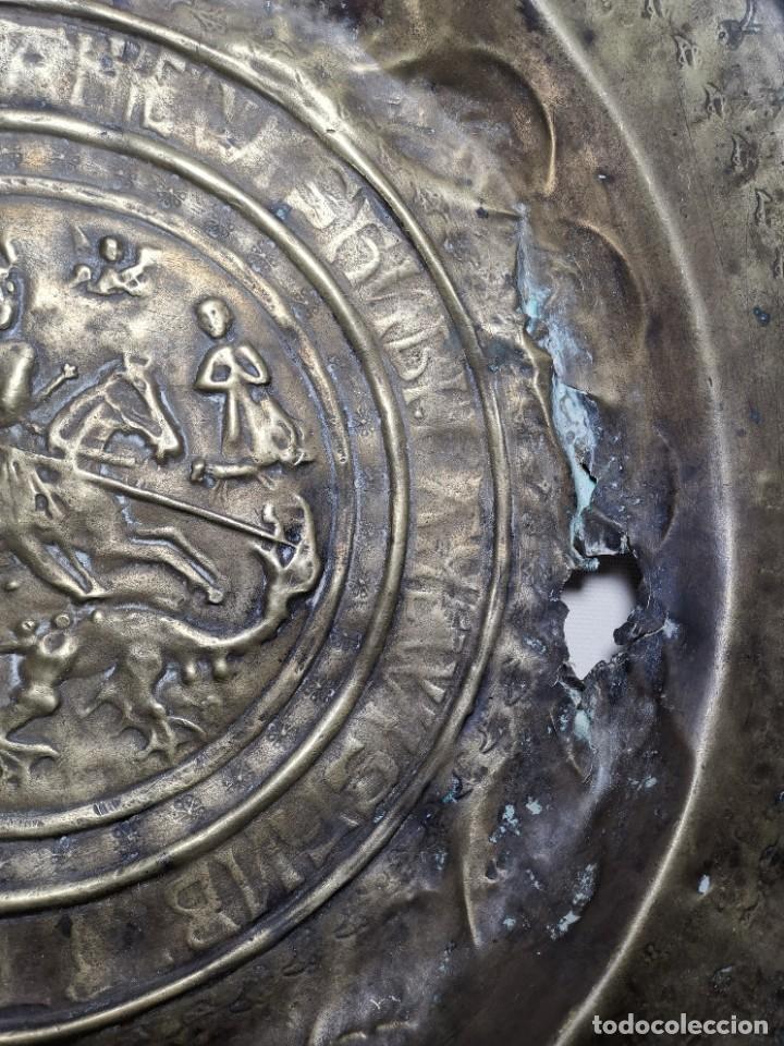 Antigüedades: ORIGINAL PLATO PETITORIO LIMOSNERO NUREMBERG SIGLO XVI--SAN JORGE---SANT JORDI - Foto 28 - 237740995
