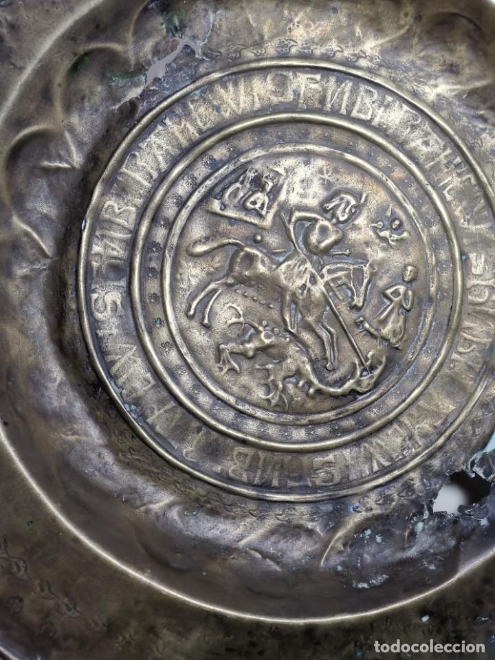 Antigüedades: ORIGINAL PLATO PETITORIO LIMOSNERO NUREMBERG SIGLO XVI--SAN JORGE---SANT JORDI - Foto 55 - 237740995