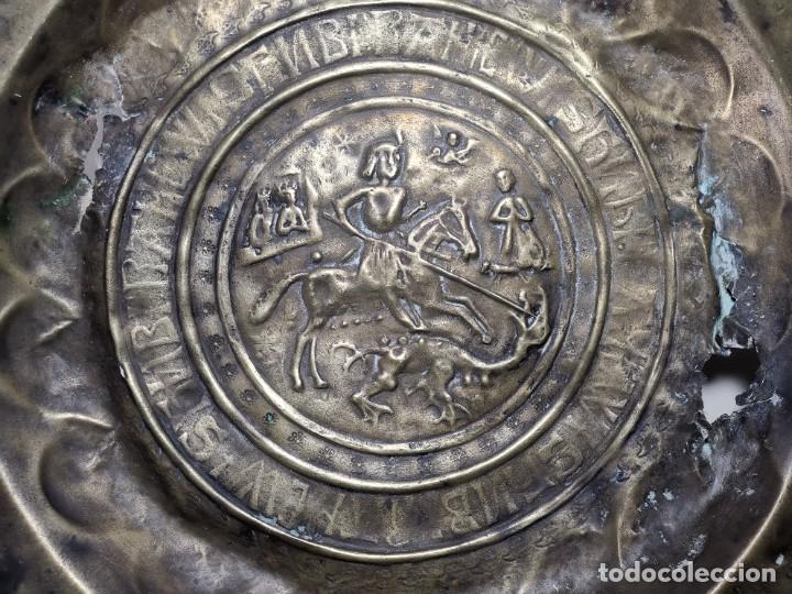 Antigüedades: ORIGINAL PLATO PETITORIO LIMOSNERO NUREMBERG SIGLO XVI--SAN JORGE---SANT JORDI - Foto 56 - 237740995