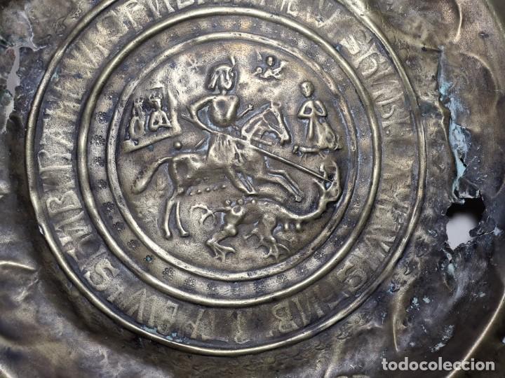 Antigüedades: ORIGINAL PLATO PETITORIO LIMOSNERO NUREMBERG SIGLO XVI--SAN JORGE---SANT JORDI - Foto 57 - 237740995
