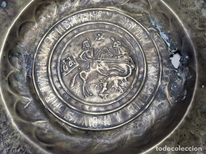 Antigüedades: ORIGINAL PLATO PETITORIO LIMOSNERO NUREMBERG SIGLO XVI--SAN JORGE---SANT JORDI - Foto 58 - 237740995