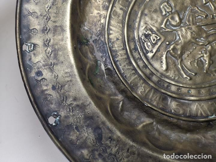 Antigüedades: ORIGINAL PLATO PETITORIO LIMOSNERO NUREMBERG SIGLO XVI--SAN JORGE---SANT JORDI - Foto 61 - 237740995