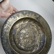 Antigüedades: ORIGINAL PLATO PETITORIO LIMOSNERO NUREMBERG SIGLO XVI--SAN JORGE---SANT JORDI. Lote 237740995