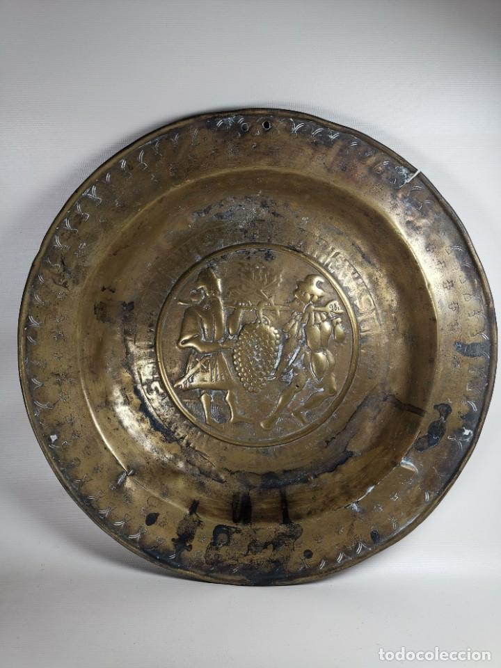 Antigüedades: ORIGINAL PLATO PETITORIO LIMOSNERO NUREMBERG SIGLO XVI- - Foto 2 - 237741480