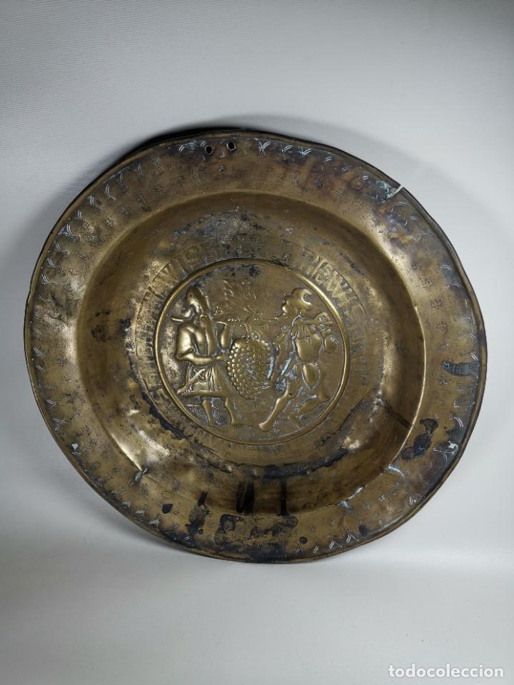 Antigüedades: ORIGINAL PLATO PETITORIO LIMOSNERO NUREMBERG SIGLO XVI- - Foto 3 - 237741480