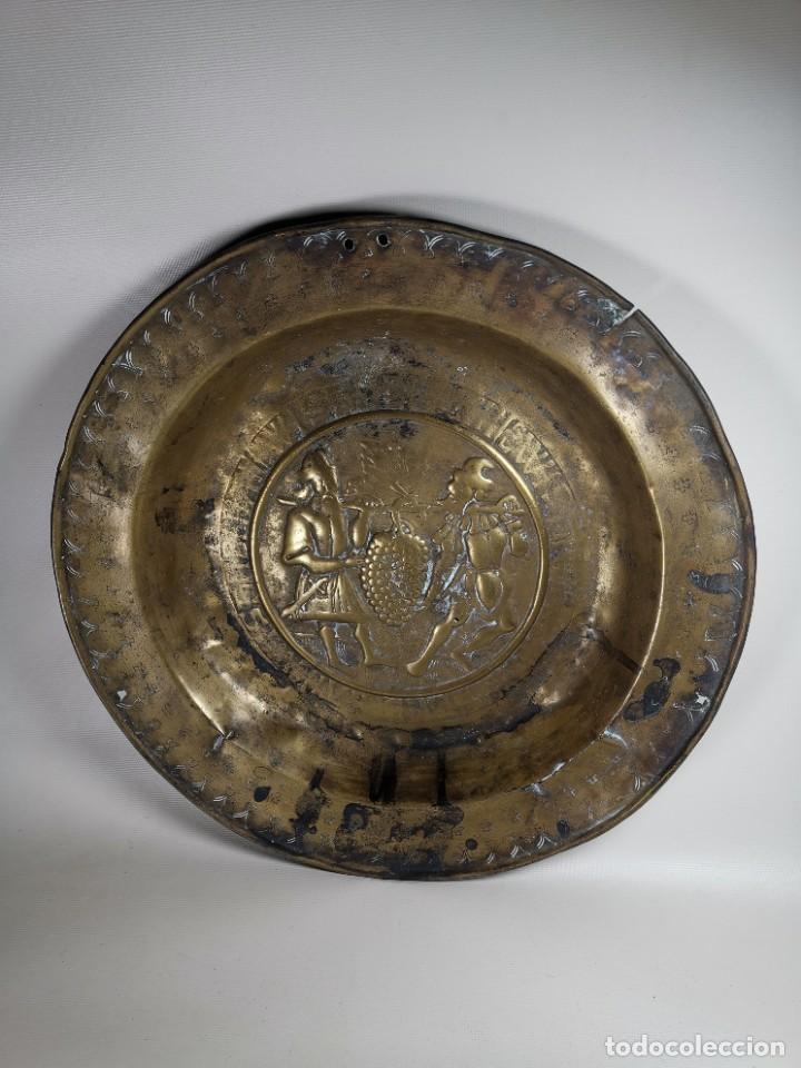 Antigüedades: ORIGINAL PLATO PETITORIO LIMOSNERO NUREMBERG SIGLO XVI- - Foto 4 - 237741480