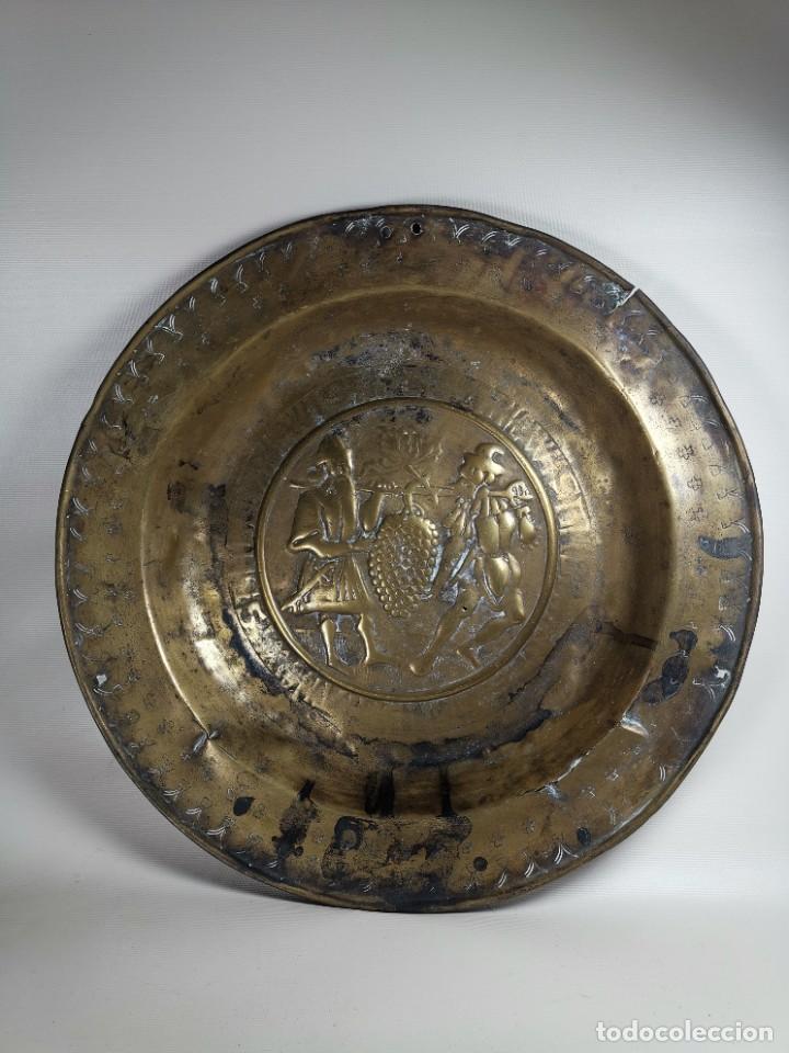 Antigüedades: ORIGINAL PLATO PETITORIO LIMOSNERO NUREMBERG SIGLO XVI- - Foto 5 - 237741480