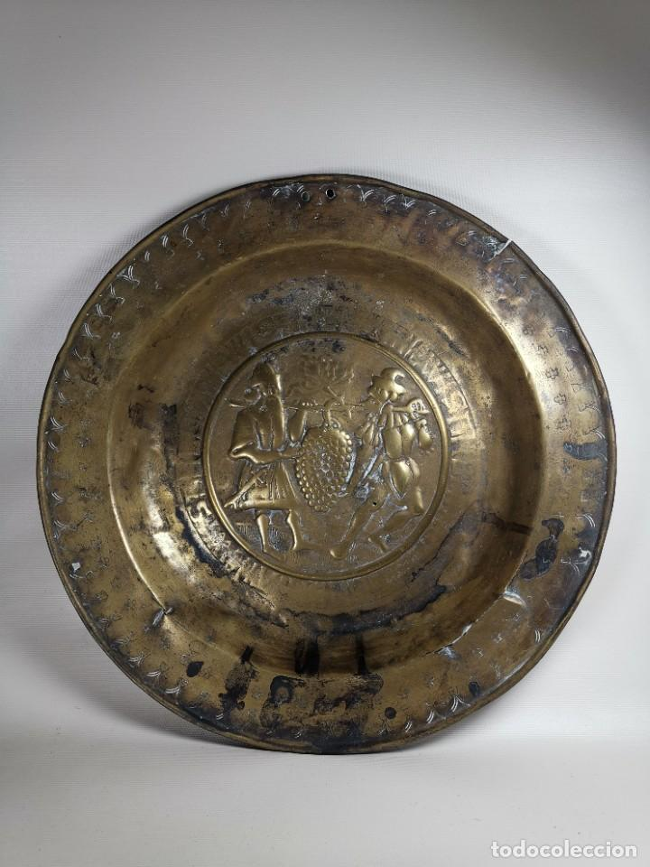 Antigüedades: ORIGINAL PLATO PETITORIO LIMOSNERO NUREMBERG SIGLO XVI- - Foto 6 - 237741480