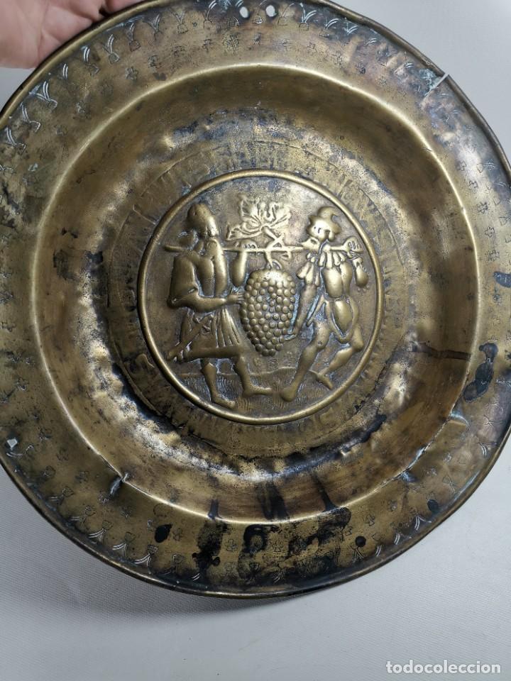 Antigüedades: ORIGINAL PLATO PETITORIO LIMOSNERO NUREMBERG SIGLO XVI- - Foto 7 - 237741480