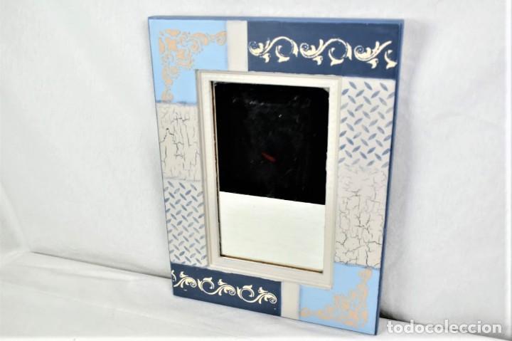 Antigüedades: Bonito espejo de pared en madera - Foto 2 - 237742585