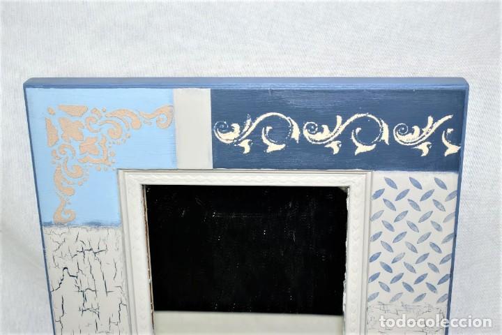Antigüedades: Bonito espejo de pared en madera - Foto 3 - 237742585