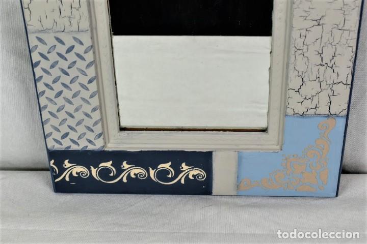 Antigüedades: Bonito espejo de pared en madera - Foto 4 - 237742585