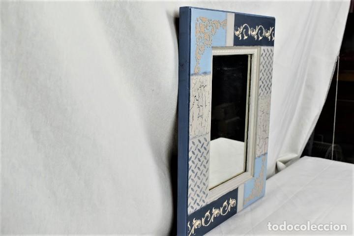 Antigüedades: Bonito espejo de pared en madera - Foto 5 - 237742585
