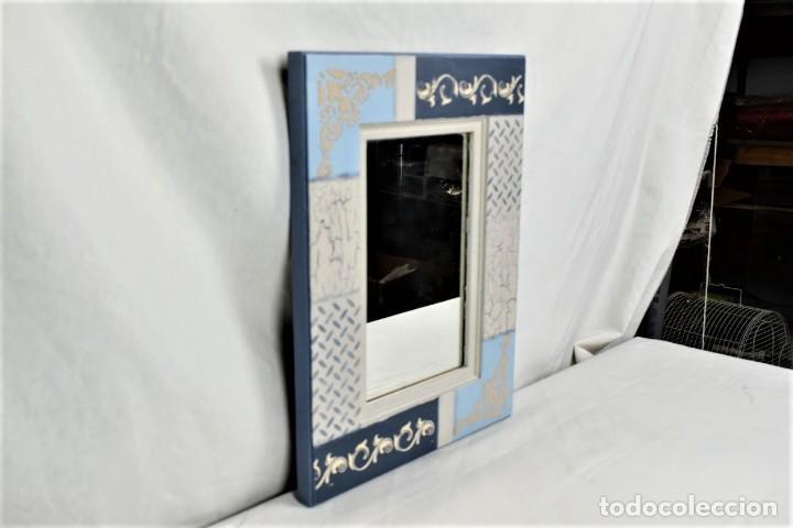 Antigüedades: Bonito espejo de pared en madera - Foto 6 - 237742585
