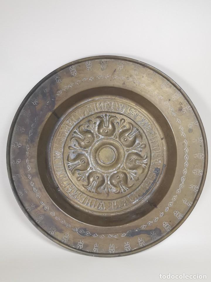 Antigüedades: ANTIGUO PLATO PETITORIO LIMOSNERO NUREMBERG SIGLO XVIII - Foto 2 - 237742950