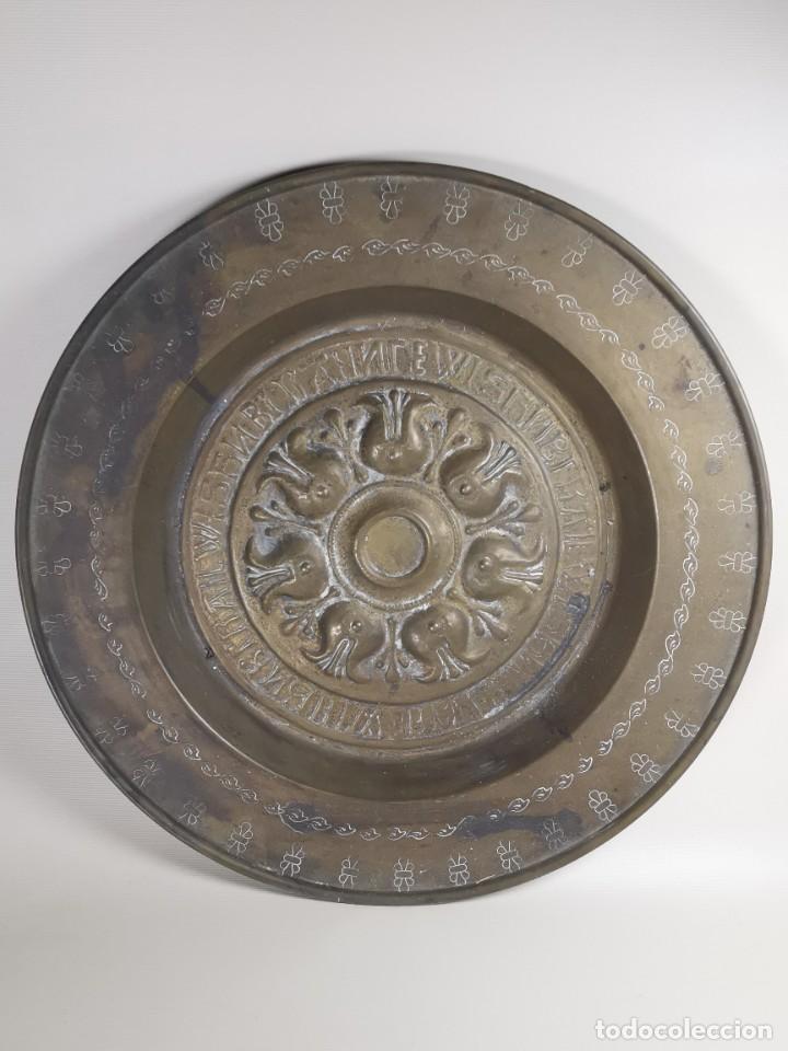 Antigüedades: ANTIGUO PLATO PETITORIO LIMOSNERO NUREMBERG SIGLO XVIII - Foto 3 - 237742950