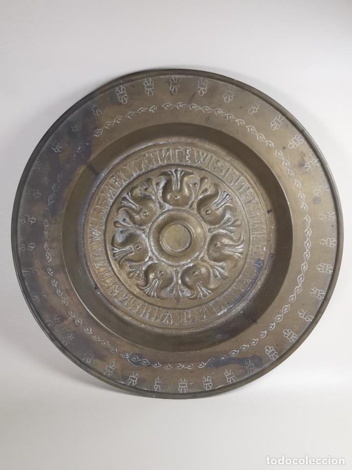 Antigüedades: ANTIGUO PLATO PETITORIO LIMOSNERO NUREMBERG SIGLO XVIII - Foto 4 - 237742950